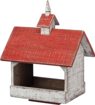 Old fashioned schoolhouse wooden bird feeder from Primitives By Kathy