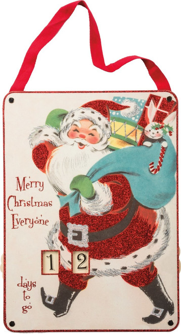 Merry Christmas Everyone! This charming vintage style Santa will delight your family for years to come as you countdown the days 'til Christmas.