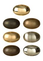 Oval Brass Cabinet Knob