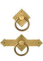 Brass Diamond Cabinet Ring Pulls