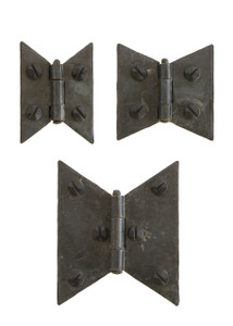 Wrought Iron Butterfly Cabinet Hinges