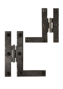 Wrought Iron HL Cabinet Hinges