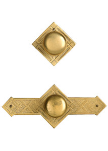 Brass Diamond Cabinet Knobs 1""