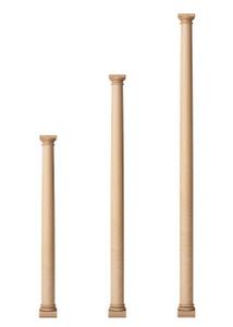 """Classic Doric Columns 3 1/2"""" Diameter"""