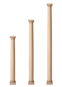 """Classic Doric Columns 4 1/2"""" Diameter"""