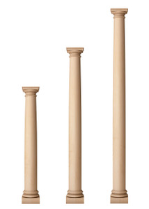 """Classic Doric Columns 5 1/2"""" Diameter"""