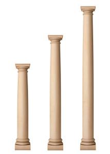 """Classic Doric Columns 6 1/2"""" Diameter"""