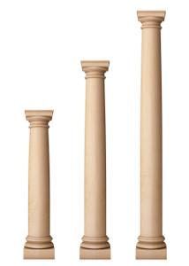 """Classic Doric Columns 7 1/2"""" Diameter"""