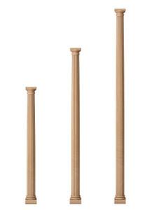 """Fluted Classic Doric Columns 3 1/2"""" Diameter"""
