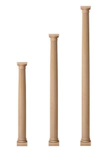"""Fluted Classic Doric Columns 4 1/2"""" Diameter"""