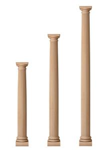 """Fluted Classic Doric Columns 5 1/2"""" Diameter"""