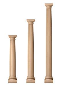 """Fluted Classic Doric Columns 6 1/2"""" Diameter"""