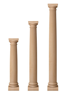 """Fluted Classic Doric Columns 7 1/2"""" Diameter"""