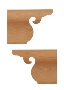 Chippendale Ogee Bracket Back Feet Pair