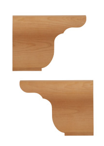 Queen Anne Ogee Bracket Back Feet Pair