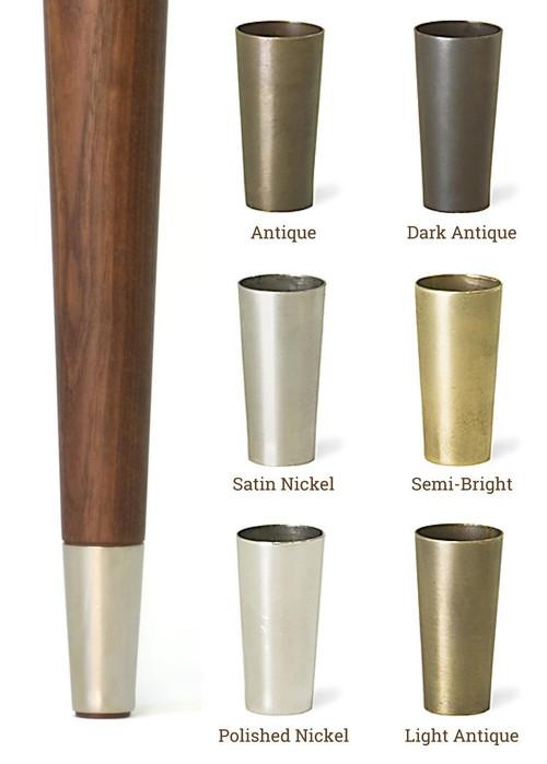 Metal Tips For Mid Centry Modern Legs Tablelegs Com