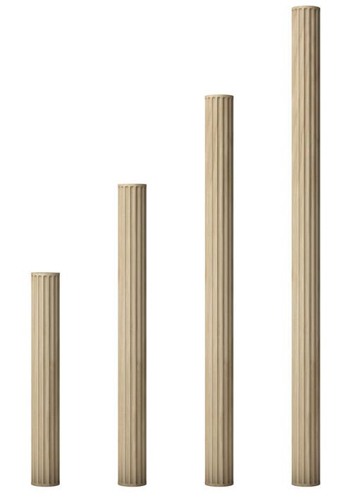 Fluted shafts for large modular columns for Prefab columns