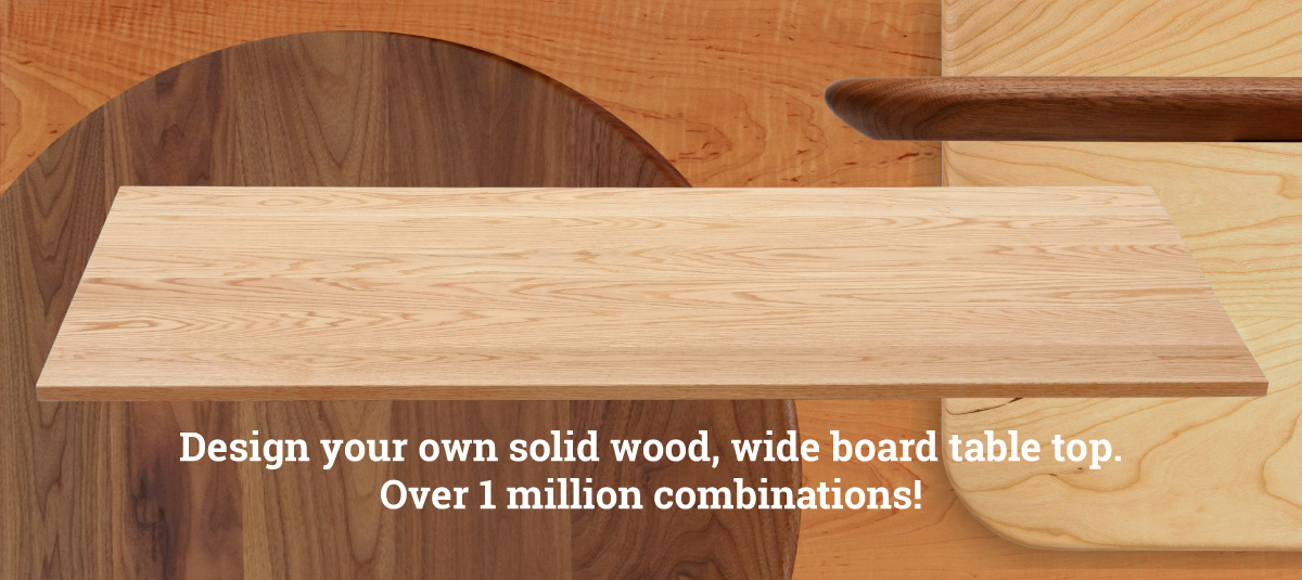 Superior Solid Wood Table Tops