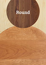 U003eRound Hardwood Table Tops