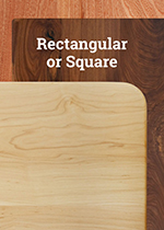 Rectangle/Square Hardwood Table Tops
