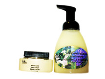 HANDS-FREE SET:  This set consists of the following three items including our Purifying Liquid Hand Soap 8.5 oz., Softening Hand Cream 4 oz., and Scented Sachet Bag.  Suitable for women, children, and men.