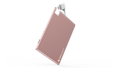 Swiss Mobility Alloy Battery Card 1350mAh w/Integrated Lightning - White/Rose