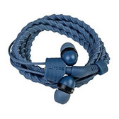 WRAPS - Wristband Headphones with MIC - Denim (WRAPSCDEN-V15M)
