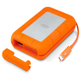 LaCie 5TB Rugged ThunderBolt Portable Hard Drive  + USB-C 3.1 (STFS5000800C) **OPEN BOX CLEARANCE**