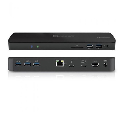 ALOGIC Thunderbolt 3 Dual Double Display Dock with 4K and Power - Black