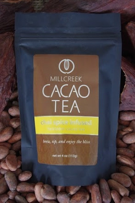 "Enjoy the exotic journey with a blissful fusion of all natural spices.  Chai spice is infused in the flavor of this unique blend of roasted cacao nibs and theobromine-rich shell. Experience the exotic flavor of chai spices that transports you to a blissful and relaxed state of euphoria. Made from the same 100% single source Ecuadorian cacao beans used in our artisan chocolate, this tea has a delicate cacao flavor with beautiful aromas.  Using our knowledge as farm to bar chocolate makers, we have crafted a delicate cacao tea using our rare, heirloom Arriba Nacional beans. Imported directly from our farmer in the Los Rios region of Ecuador, this exotic and rare bean is roasted to release the beautiful flavors within. This Heirloom Cacao Tea uses both roasted nibs and theobromine-rich shells to create a delicate tea with lovely chocolate nuances.  Cacao Benefits:  Rich in antioxidants, amino acids, and magnesium Cacao contains Theobromine, said to give a euphoric feeling Cacao contains Anandamide, an endorphin, whose name appropriately translates as ""bliss"" Brew, sip and enjoy the bliss"