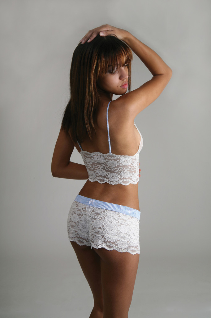 White Lace Bridal Lingerie Panty and Top
