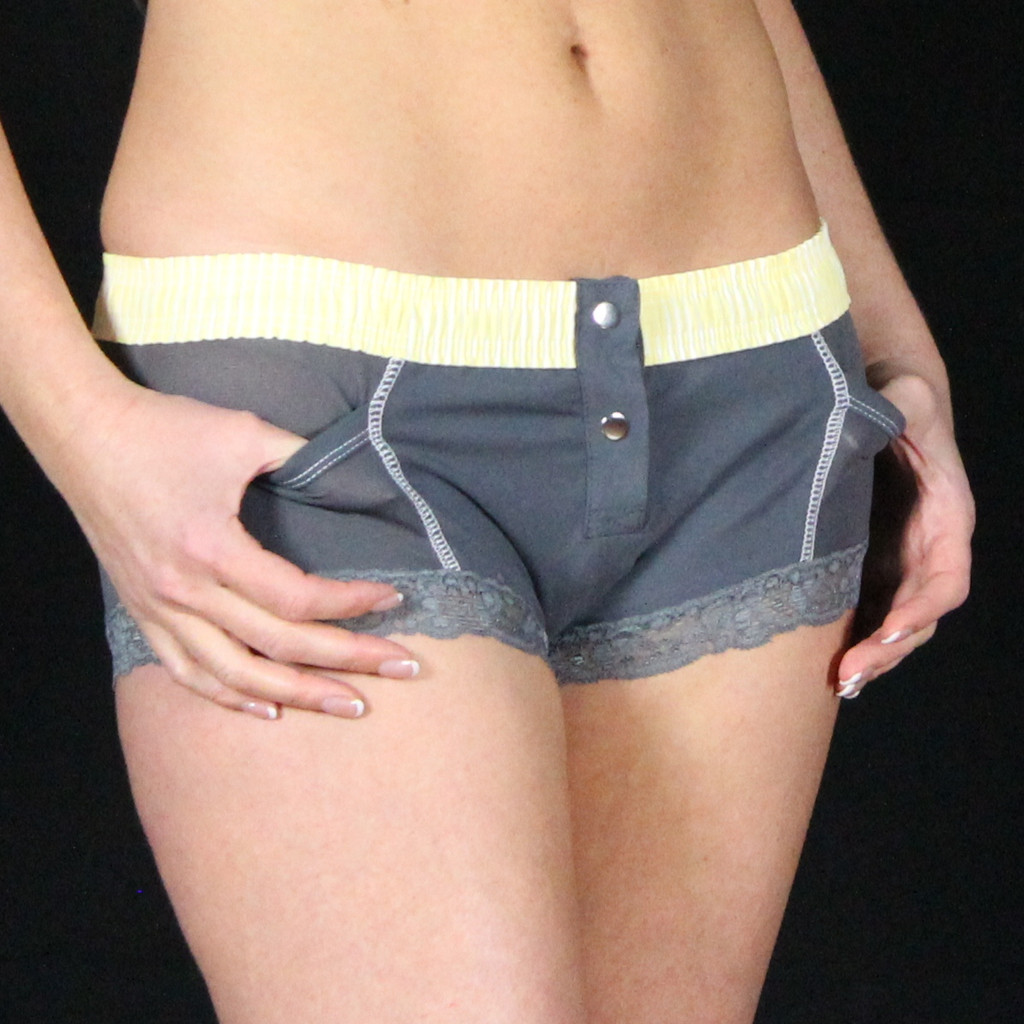 Grey Boxer Brief (Yellow Top)