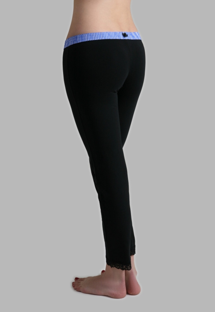 Leggings - FOXER Blue over Black
