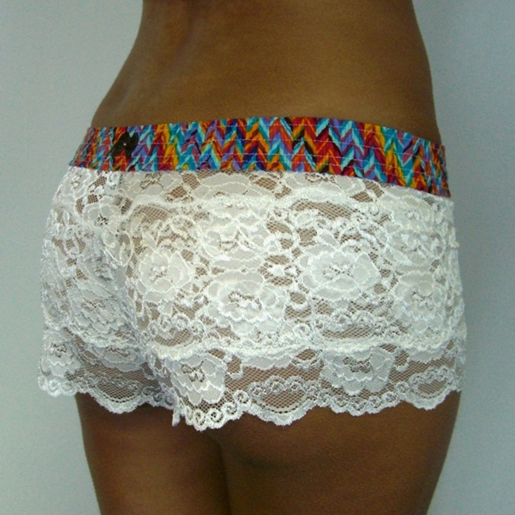 Southwest over Ivory Lace Boxers A6001-08-15