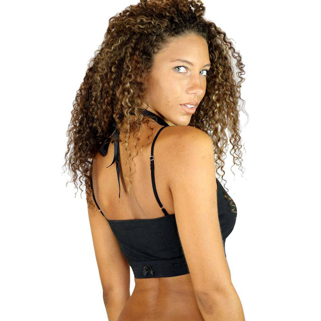 Athletic Black Sport Bra Top