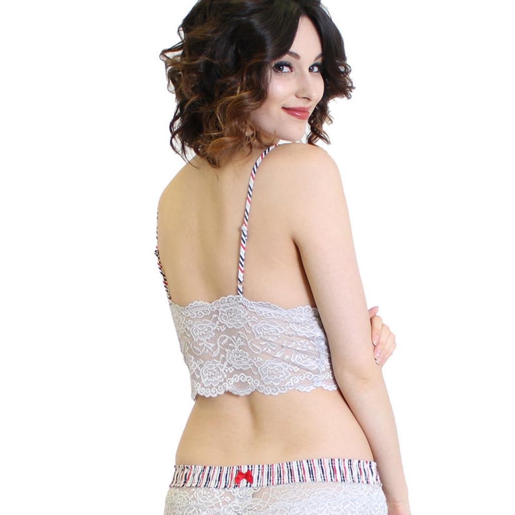Silver Lace Bralette