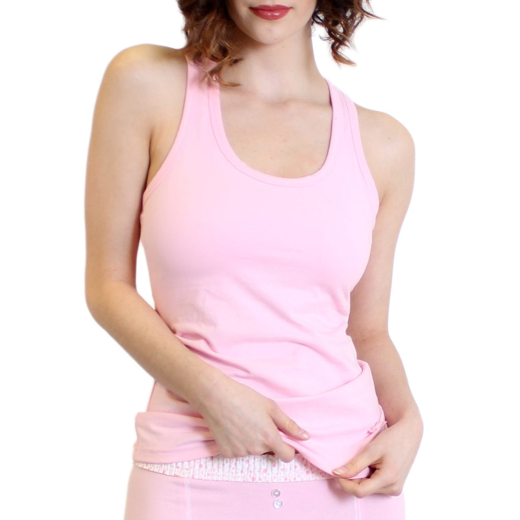 Pink Racerback Tank Top For Girls