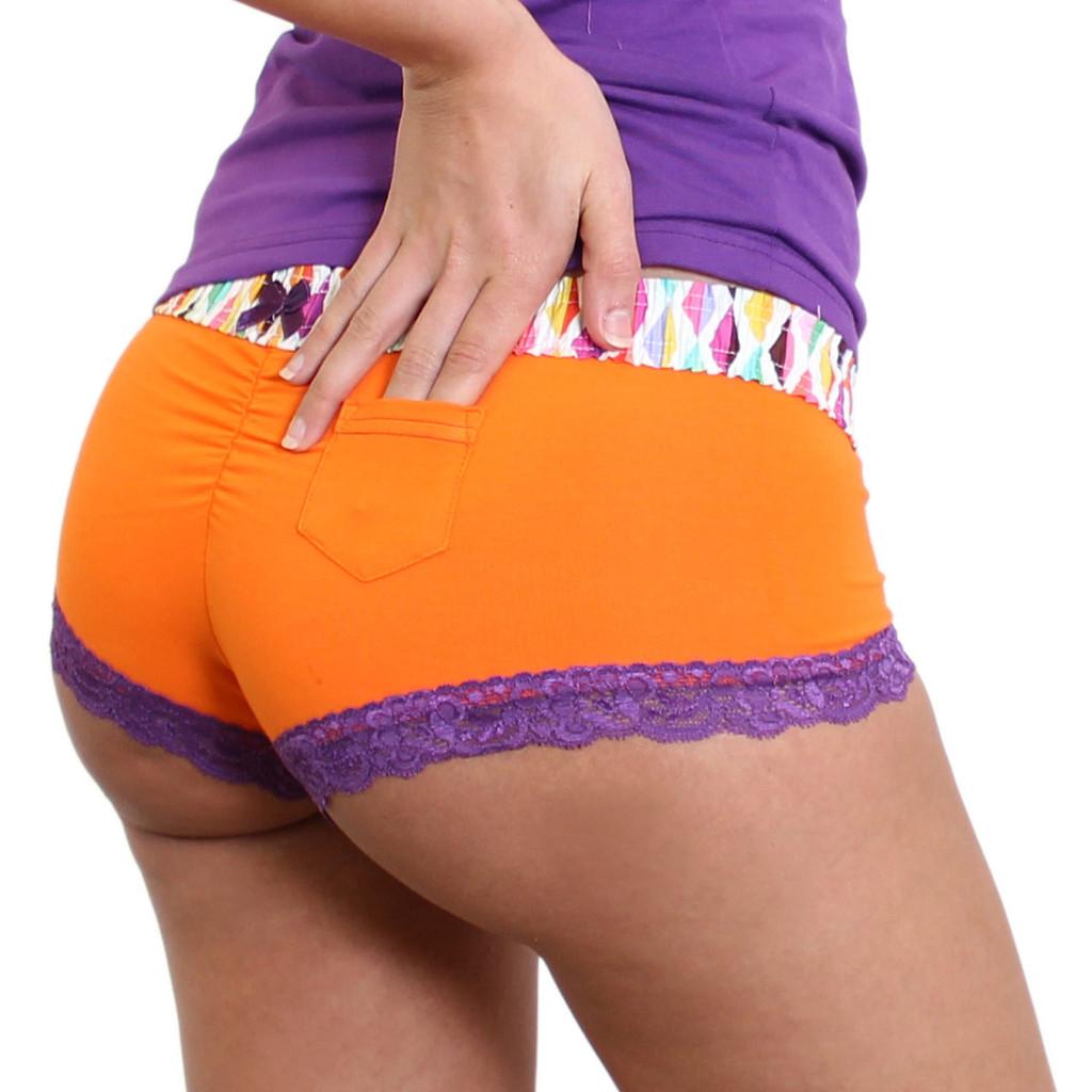 Orange Boy short Underwear with Colorful FOXERS Waistband