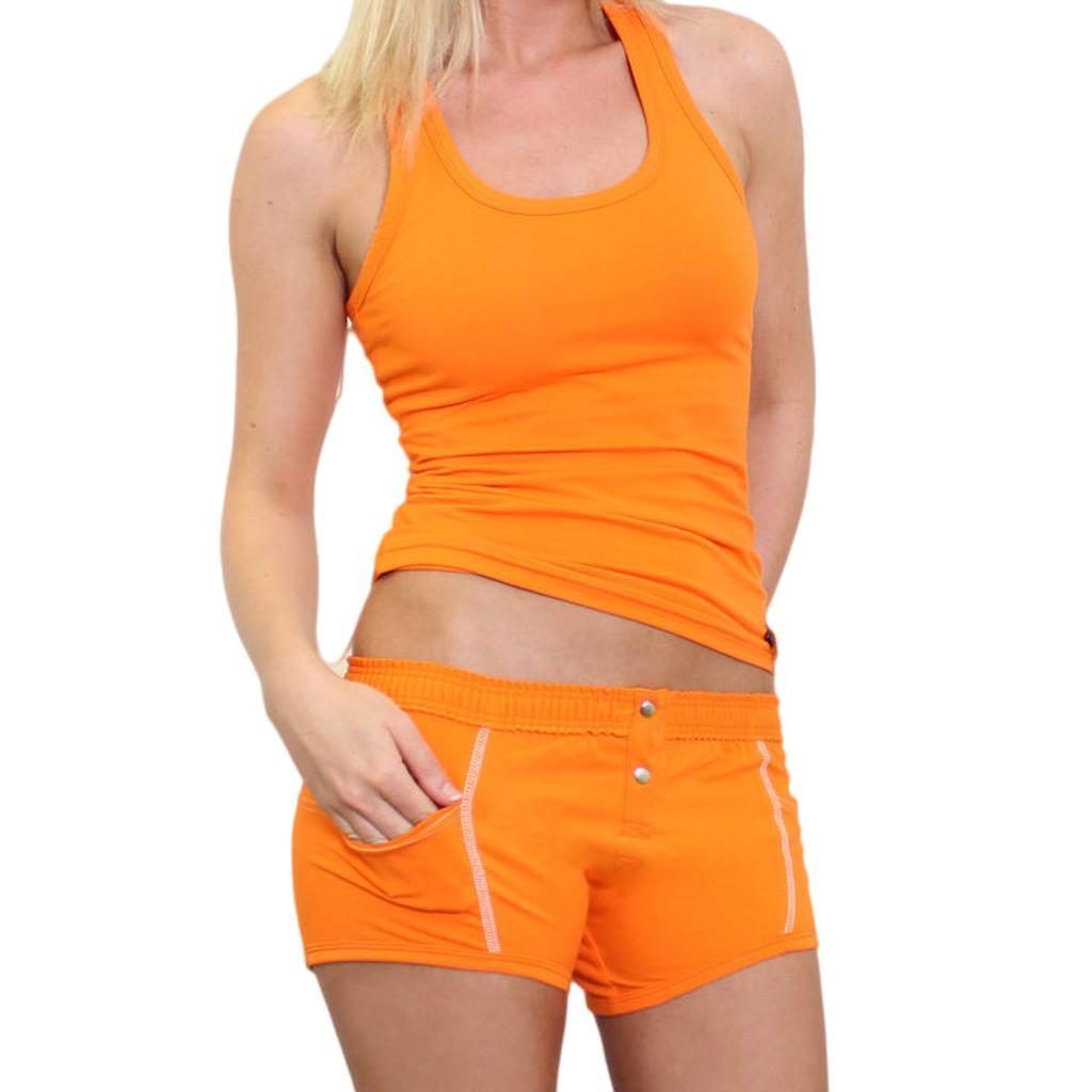 Ladies Orange underwear with pockets and Orange Tank Top