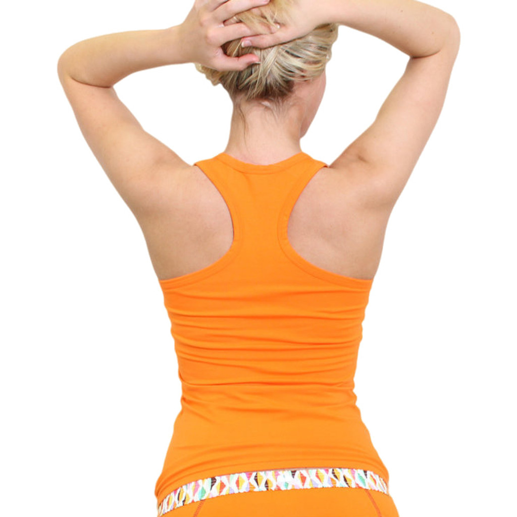 Orange Racer back tank top