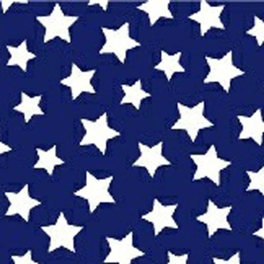 Navy & White Star Bright Waistband Fabric Swatch