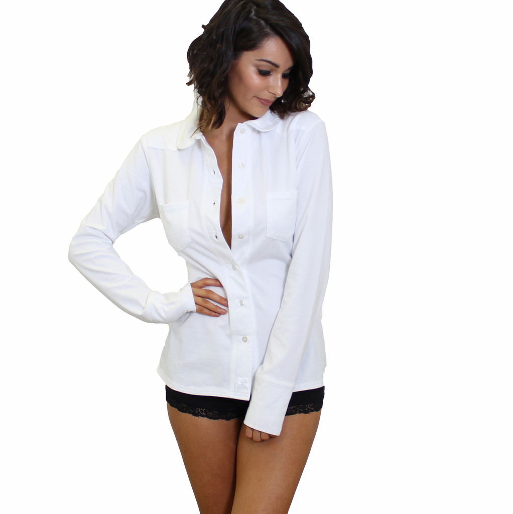 Sexy Boyfriend Shirt | White