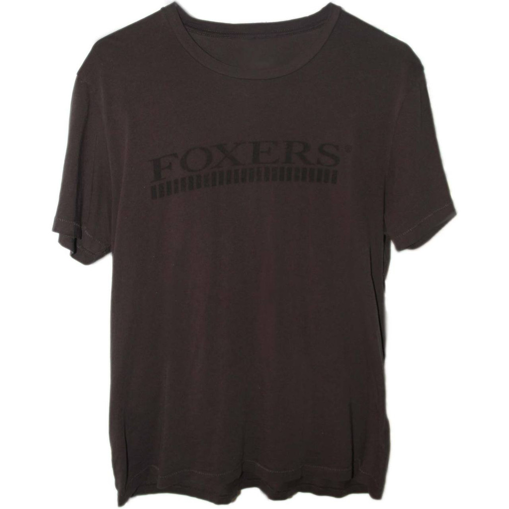 Premium Organic Cotton Men's Black Tshirt with Black FOXERS Logo