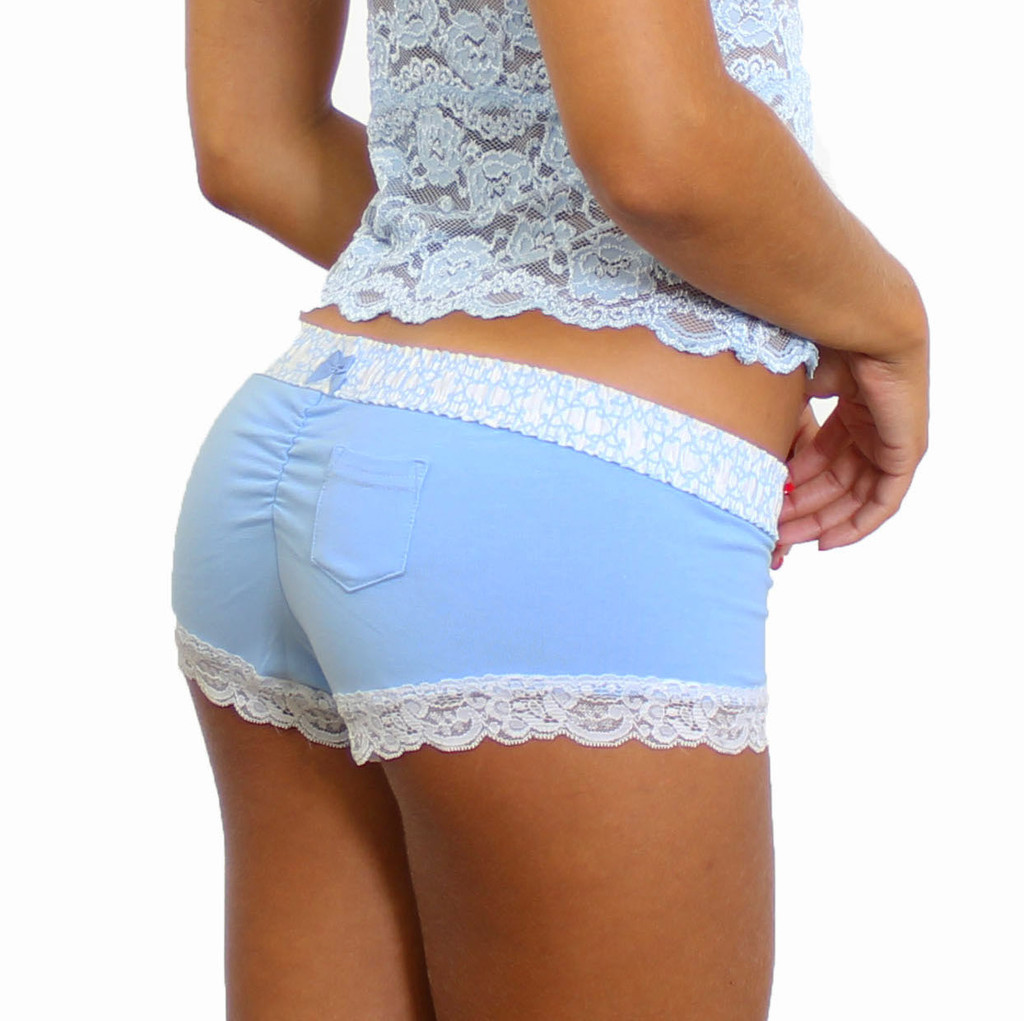 Light Blue Boyshort Panties
