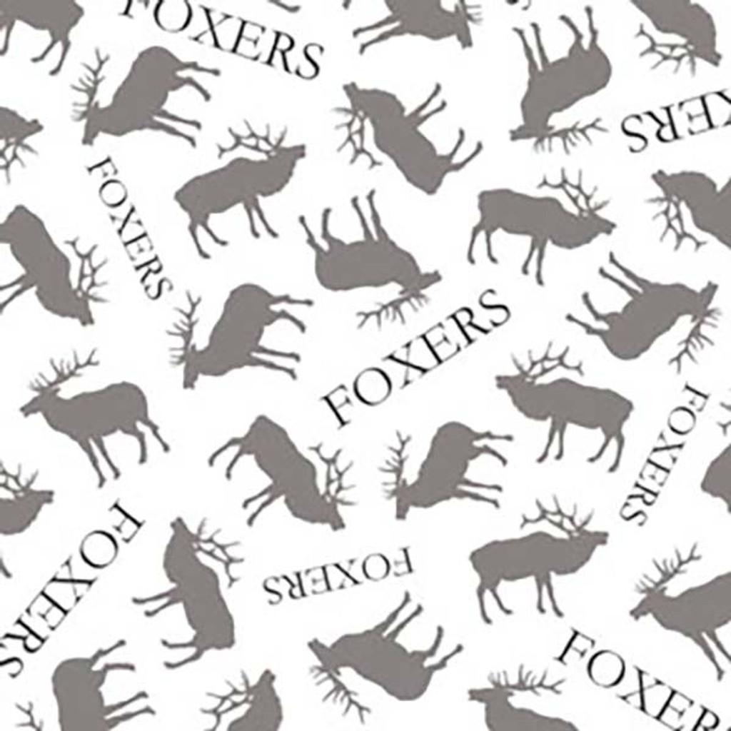 FOXERS logos and Elk Print Waistband Swatch
