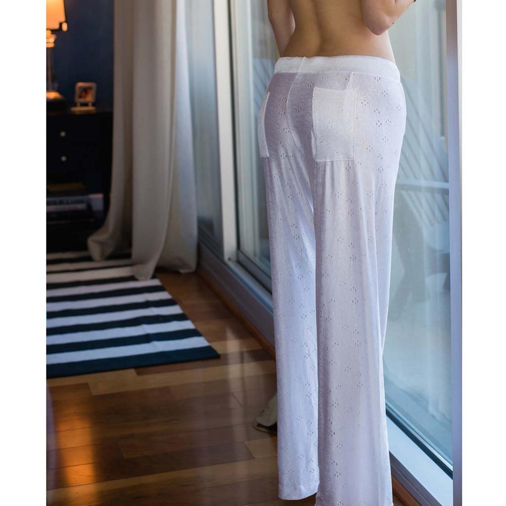 Women's Silky White Lounge Pants