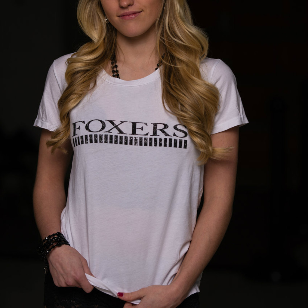 Soft White Tshirt with FOXERS logo