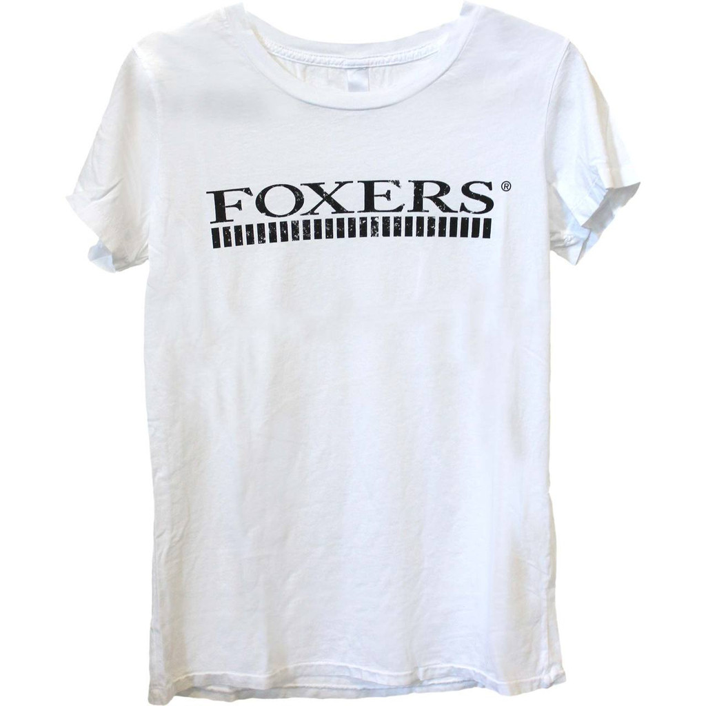 FOXERS Designer Logo White Tshirt
