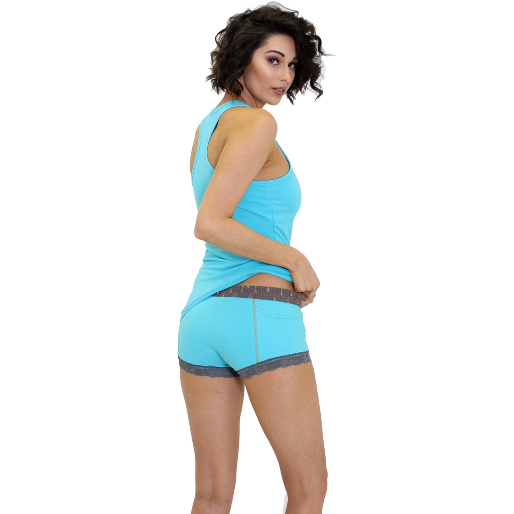 Turquoise Boxer Briefs and Matching Racer Back Tank Top