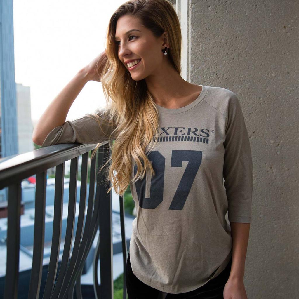 Foxers Grey Women's Baseball Shirt